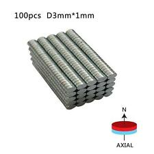 100/200PCS New Safety Super Strong Disc 3x1mm Round Rare-Earth Neodymium Magnets