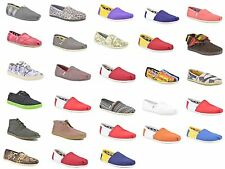 TOMS Men's Classics University Canvas Slip-on Flat Casual Shoes Ankle-High Mens