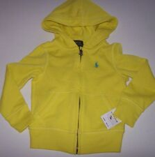 New Polo Ralph Lauren zip front hoodie jacket sweatshirt boys neon yellow sz 2T