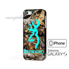 Browning Deer Camo Mint Cover iPhone 7 7+ 6 6+ 6s 6s+ 5 5s 5c Samsung Case
