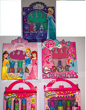 Nail Polish Trio Pack Shopkins Princess Pony Xmas Girls Gift Stocking Filler NEW