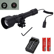 OSRAM Infrared IR 850nm Night Vision Red LED Zoom Flashlight Light+Remote Switch