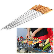 10/12Pc Outdoor Picnic BBQ Skewers Roast Stick Stainless Steel Needle New Trendy