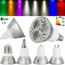US Energy Saving 3W E26 E27 E12 GU10 MR16 LED SpotLight Lamp 85-265V White Bulb