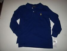 New Polo Ralph Lauren royal blue long sleeve shirt boys sz 6m 6 mo months