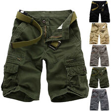 New Mens Work Baggy Sports Shorts Pants Casual Cargo Combat Trousers Size 28-38