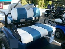 E-Z-GO, Club Car, & Yamaha Golf Cart Vinyl Seat Covers-Stapled On-(Whte/Riviera)