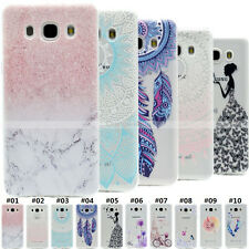 Pattern Clear TPU Skin Rubber Gel Back Case Slim Soft Silicone Cover For Samsung