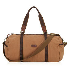 Vintage Men Women Canvas Leather Duffle Weekend Bag Lightweight Luggage Holdall