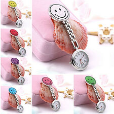 Cute Pendant Butterfly Nurse Clip-on Brooch Quartz Hanging Pocket Watch Refined