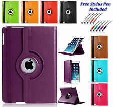 360 Rotating Leather Smart Case Cover Holder For Apple iPad MINI 1 2 3  UK