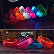 Music Activated Sound Control LED Flashing Bracelet Light Glow Bangles Wristband