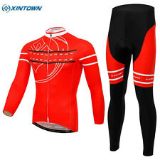XINTOWN Team Mens Red Clothing Set Ropa Ciclismo MTB Bike Bicycle Cycling Long