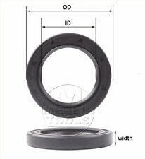 Select Size ID 19 - 20mm TC Double Lip Rubber Rotary Shaft Oil Seal with Spring