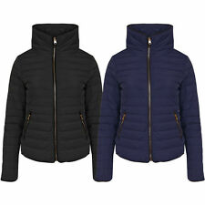 New Womens Tokyo Laundry Quilted Zip Up Funnel Neck Winter Jacket Size 8 - 16