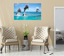 Landscape Ocean Mural Scene BOTTLE NOSE DOLPHINS #2 Wall Sticker Decal Graphic