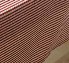 Quality Red White Strips Bar Coffee Table Cotton Linen Cloth Covering Ous