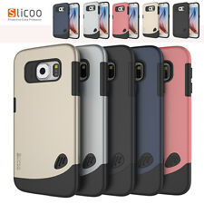 Slicoo Dual-layer TPU Rubber Protective Phone Cover Case for Samsung Galaxy S6