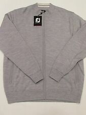 NEW MENS FOOTJOY PERFORMANCE FULL ZIP SWEATER,HEATHER GREY,LARGE or X-LARGE,$160