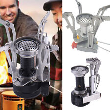 Foldable Outdoor Camping Mini Steel Stove Case Portable Picnic Gas Burner