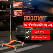 2KW Short Wave Infrared Paint Curing Lamp Paint Dryer Body Panel Heater Baking
