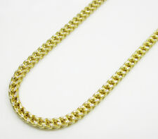 """10K Yellow SOLID Gold Hollow Franco Chain Necklace - 4MM Size 18""""-24"""""""