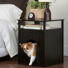 Pet End Table Night Stand Dog Cat Washroom House Litter Box Loo Cabinet Door