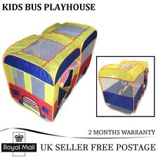 New Childrens Kids Mini Bus Tent Playhouse Indoor & Outdoor Play Pop Up House