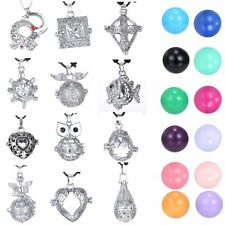 Heart Pendant Locket Cage Necklace Pregnancy Chime Ball Gift NEW