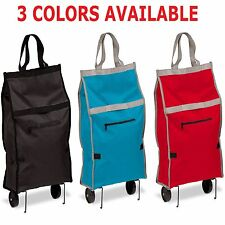Laundry Cart Utility Cart Rolling Trolley Folding Shopping Travel Grocery 1d