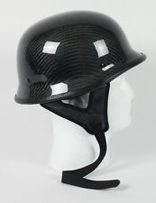 Real Carbon Fiber German Motorcycle Helmet DOT Biker Black Shorty Half S M L XL