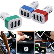 Universal Car Charger 3-Port USB DC 4.1A Adapter For Phone  iPhone 7 For Samsung