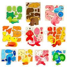 3D Wooden Animal Model Kit DIY Puzzles Pre-school Kids Educational Learning Toy