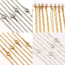 2/10Pcs 18KGP Gold/Silver/White K Plated Round Clasp Twisted Chains Finding 17''