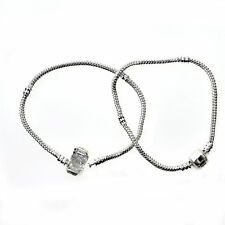 New 925 Sterling Silver Plated Women Fashion Snake Chain Bracelet Bangle Jewelry