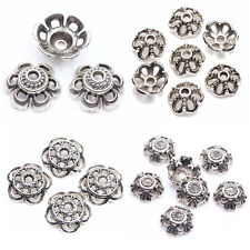 50/100Pcs Tibet Silver Holow Out Various Flower Bead Caps Necklace Findings
