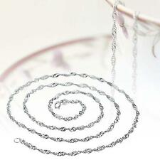 Fashion Pure Solid 925 Sterling Silver Rope Chain Necklace with Lobster Clasp YY