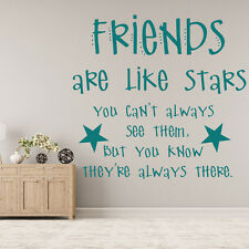 Friends Are Like Stars… Family & Friends Quotes Wall Stickers Home Art Decals