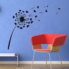 Love Heart DAndelion Floral Love Flowers And Trees Wall Stickers Home Art Decals