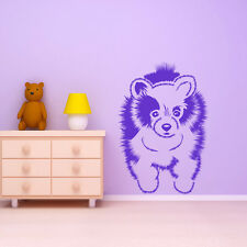 Pomeranian Canine Fluffy Furry Pets Dogs Wall Stickers Home Decor Art Decals
