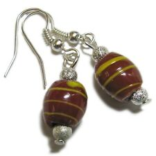 Unique Silver Tone Glass Bead Earrings By SoniaMcD