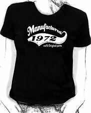 """""""Manufactured in 1972"""" 100% original parts - Birthday humour Skinni fit  t-shirt"""