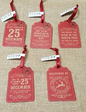 PAPER GIFT TAG DO NOT OPEN UNTIL CHRISTMAS REINDEER XMAS RED TAGS PRESENT
