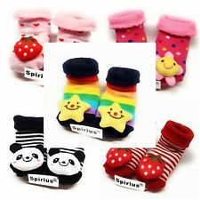 Baby Boys Girls Cotton socks Booties Indoor Shoes Slippers animal cartoon gift