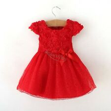 Girl Clothes Baby Toddler Rose Red Dress Tutu Clothing Princess Christmas Dress