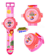 Cute Boys & Girls Cartoon Figures Projection Wrist Watch Kids Toy Christmas Gift