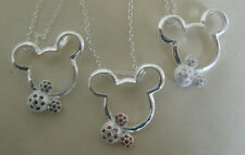 Sterling Silver Mickey Mouse esque Ears Necklace