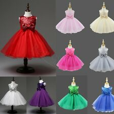 Flower Girl Dress Formal Princess Pageant Wedding Birthday Party Bridesmaid Xmas
