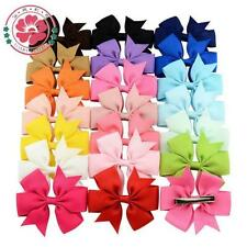 Boutique 1PC New Grosgrain Hair Hairpin Clips Ribbon Bow Baby Girls Big Fashion