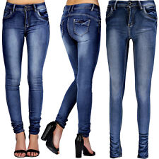 NEW WOMEN'S GIRLS BLUE MID WASH FADED SLIM FIT LADIES SKINNY DENIM 6 8 10 12 14